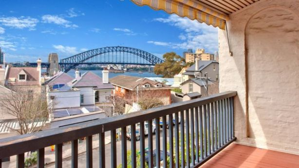 The Lavender Bay property has views of the Harbour Bridge and Opera House. Photo: Supplied