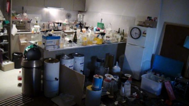 A drug lab found in a block of units in Sydney. Photo: NSW Police.