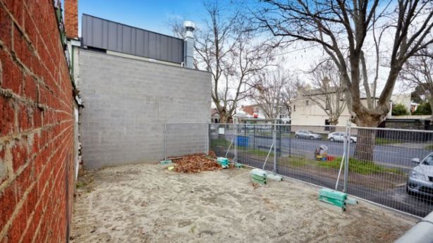 Melbourne's soaring land prices: this 64-square-metre vacant block sold for $1.3 million. Photo: Cayzer