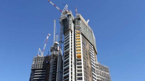 Melbourne CBD - the epic centre of apartment developments - is recording price falls. Photo: Louise Kennerley