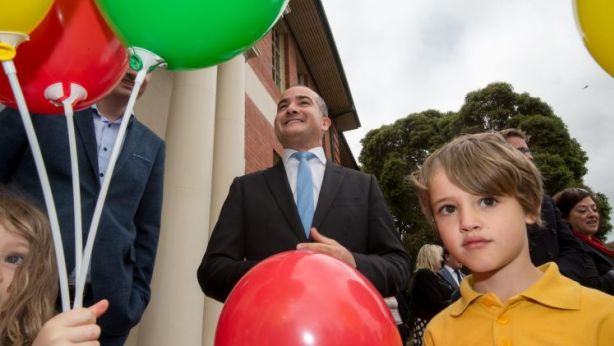 The Education Minister and Deputy Pemier James Merlino announces that the old Preston Girls School will re-open as a High School. Photo: Penny Stephens