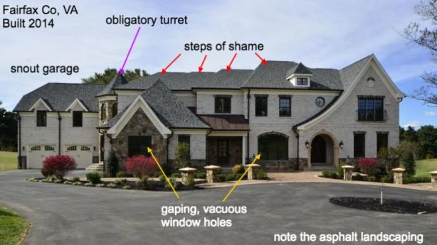 Not all big mansions were created equally - and apparently some of them were built pretty badly. Photo: McMansion Hell