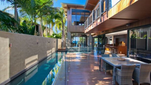 The home at 27 The Esplanade, Sunshine Beach, QLD, has a large guest suite with direct access to the pool terrace. Photo: Domain.com.au