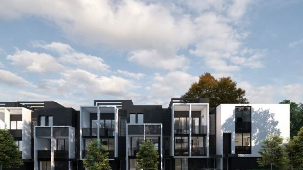 Artist's impression of the YarraBend townhouses, of which Glenvill sold 55 of a planned 60 on Saturday. Photo: Supplied
