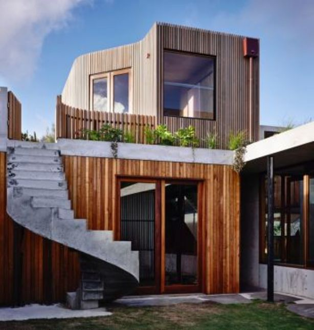 The Concrete House in Torquay by Auhaus Architects. Photo: Derek Swalwell