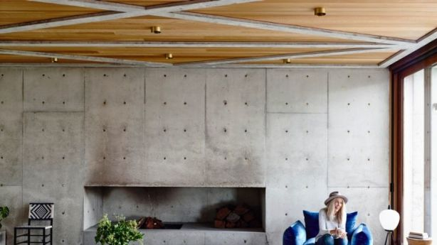 The Concrete House is inventive inside and out. Photo: Derek Swalwell
