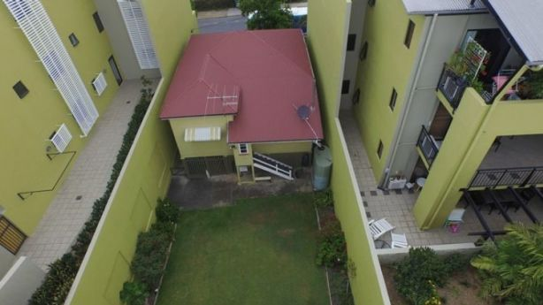 Aerial view of the Mollison Street cottage's backyard. Photo: Supplied