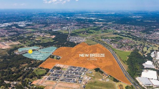 Dahua's $1 billion master-planned estate of New Breeze is in Bardia - 45 kilometres south-west of Sydney CBD.