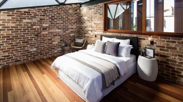 The designer bedroom. Photo: Brett Boardman