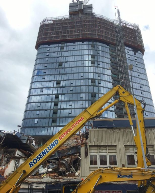 Demolition works continue at the Fortitude Valley site. Photo: Wendy Hughes