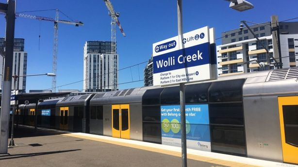 Wolli Creek train station opened in 2000.