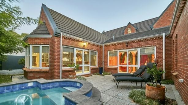 The courtyard has a spa and a water feature. Photo: Supplied