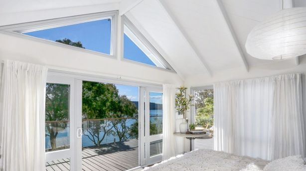 The view from the bedroom at 8 Paradise Avenue, Avalon Beach is one we could get used to seeing each day. Photo: Supplied