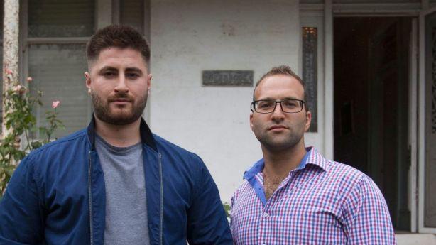 Unsuccessful bidders Chris Zafeirakopoulos and Joseph Metlej. Photo: Fiona Morris