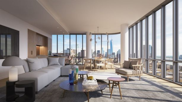 Views to the west take in the Hudson River and look down on the impressive cityscape of Manhattan and Tribeca. Photo: Noe & Associates with The Boundary.