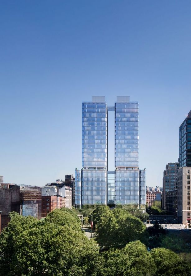 The glassy exterior of this new condo complex in Soho would almost have you believing it's an office tower. Photo: Noe & Associates with The Boundary.