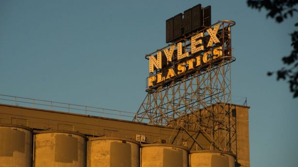 The Nylex sign and the silos are a landmark in Melbourne. Photo: Josh Robenstone