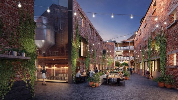 An artist's impression of the proposed Malt District redevelopment at the Nylex site. Photo: Caydon