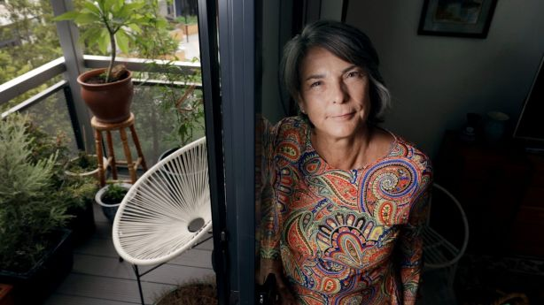 Janie Miller is part of the growing number of people who unexpectedly find themselves in housing stress, but don't qualify for social housing. Photo: Nicole Cleary