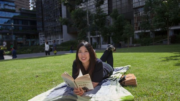 Sydneysiders like Cindy Erlina are choosing to buy properties with good access to green spaces. Photo: Fiona Morris