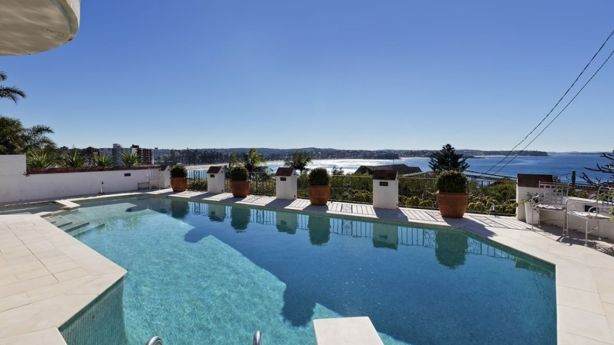 This pool adjoining the tennis court on Bower Street, Manly, sold for $5.3 million. Photo: supplied