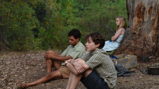 Aaron L. McGrath, Levi Miller and Angourie Rice in Jasper Jones. Photo: Supplied