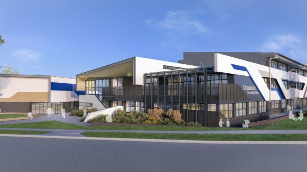 An artist's impression of the to-be-constructed Beaumaris Secondary. Photo: Supplied