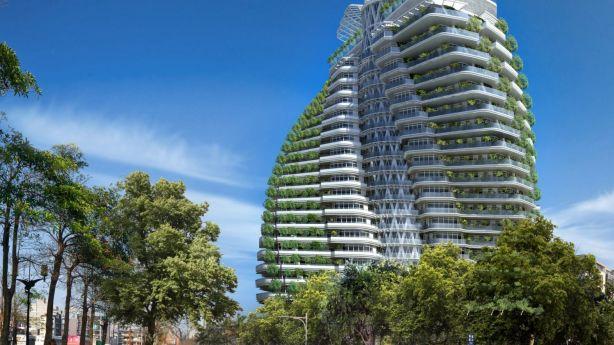 Tao Zhu Yin Yuan project in Taiwan's capital Taipei by Parisian architect Vincent Callebaut Photo: Vincent Callebaut