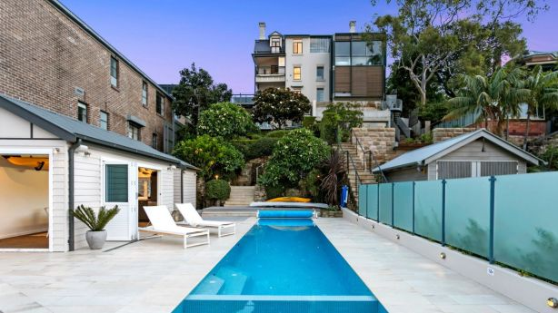 Outdoor living spaces at the Birchgrove property include a pool house. Photo: Supplied