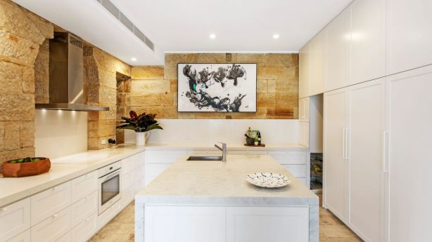 While 21 Wharf Road, Birchgrove makes the most of outdoor spaces, it's kitchen highlights that the interior has been tended to with equal care. Photo: Supplied
