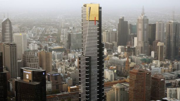 It may not be immediately obvious, but Melbourne's tallest building is a nod to the Eureka Stockade. Photo: Paul Rovere