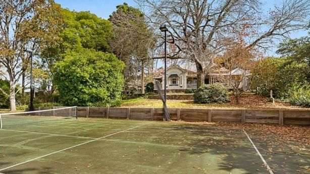 The tennis court and beautiful grounds at 9 Fletcher Street, East Toowoomba. Photo: Webster Cavanagh Toowoomba
