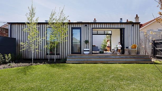 Prefab homes, such as this one in Brunswick, Victoria, are tipped to become a more common site. Photo: Tatjana Plitt/ArchiBLoX