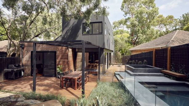 A prefab home in Blackburn, Victoria. It is claimed choosing a prefab can deliver cost-savings for home-buyers of up to 25 per cent. Photo: Tim Ross