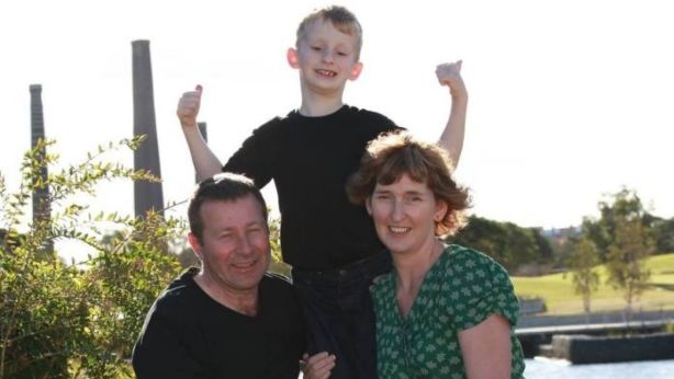 Janet Dandy-Ward with her husband and son. Photo: Supplied