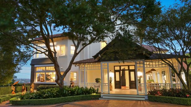 Stephen Johns and Michele Bender are selling their historic Bellevue Hill mansion Belhaven. Photo: Supplied