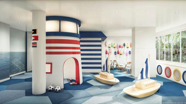 This nautical wonderland is tucked away in a luxury apartment building called River & Warren. Photo: CetraRuddy Architecture/Bilyana Dimitrova