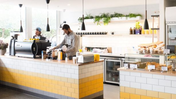 Owner  Paul Vernuccio says agents bring buyers to George Jones in Pascoe Vale to show how trendy the suburb has become. Photo: Supplied