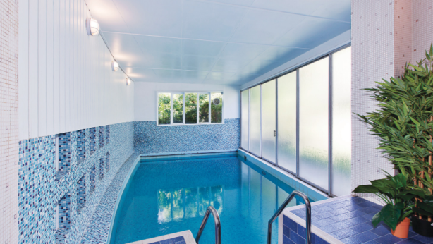Market dip: 13 Belvedere, Kew has one of the first purpose-built indoor swimming pools constructed in a Melbourne home. Photo: Supplied