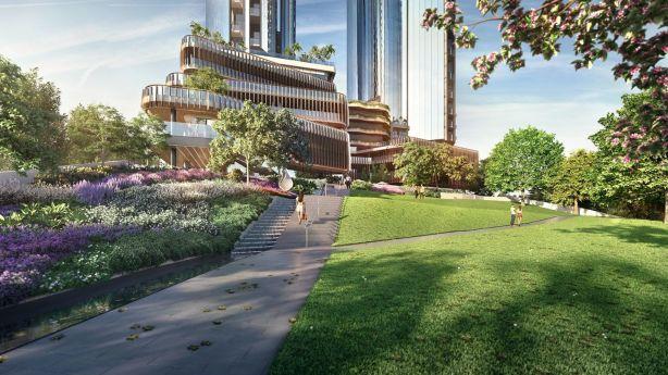 Melbourne Square is set to bring a massive park to Southbank. Photo: OSK Property, FloodSlicer Pty Ltd