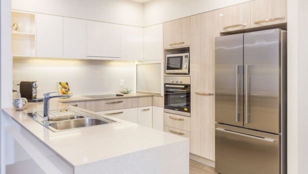 Kitchens at the Central feature Bosch appliances. Photo: Supplied