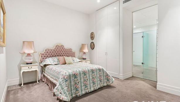 The one bedroom in what could be Melbourne's most expensive one-bedroom flat. Photo: Caine Real Estate