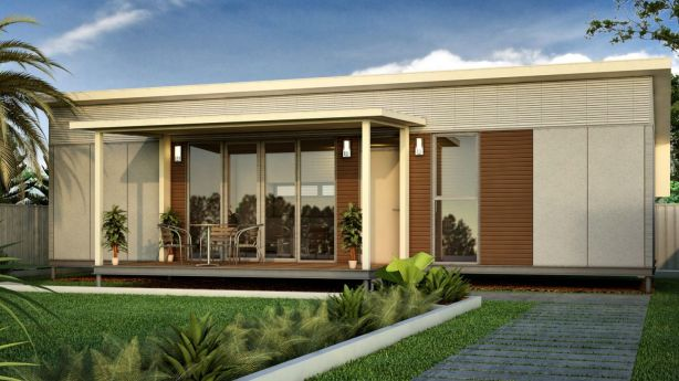 A company that specialises in luxury modular houses has discovered that first-home buyers who cannot afford a house can still access the $20,000 Queensland Government grant if they build a granny flat. Photo: Supplied