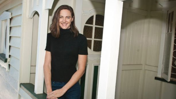 Swimming sprint queen Cate Campbell at home in her new Queenslander at Morningside, Brisbane. Photo: Robert Shakespeare