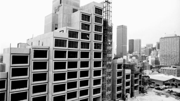 The Sirius building, during construction in 1979. Photo: Rick Stevens