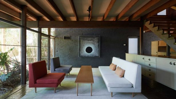 Robin Boyd furniture designs at his Walsh Street family home. Photo: Supplied
