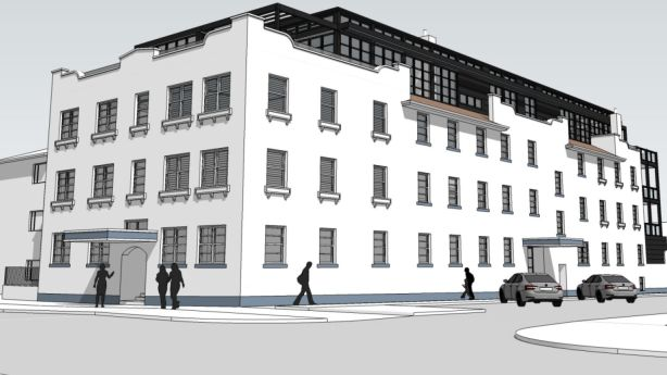 Artist impression of The Gatwick Hotel Photo: Brenchley Architects