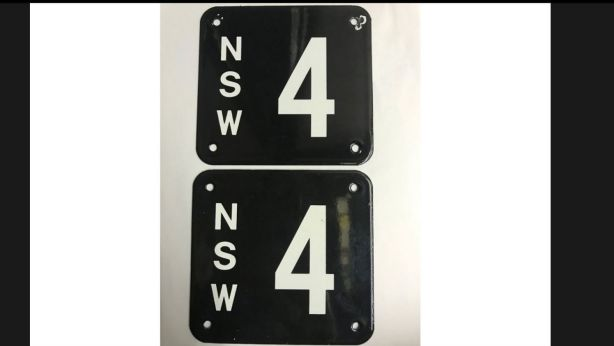 The asking price for the number plates tops the $1.18 million median house price in Sydney.