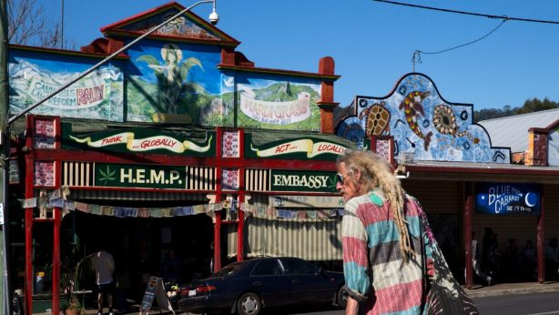 Nimbin is a short drive away, and the local Roots Festival often draws a crowd in September. Photo: Janie Barrett