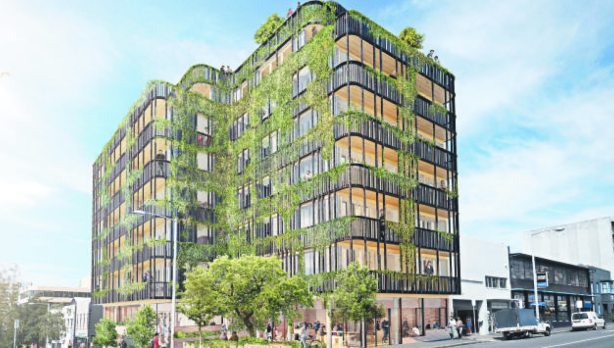 An artists's impression of The Commons, a 30-apartment 'sustainable living complex'. Photo: The Commons